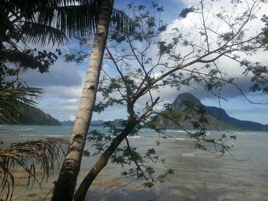 Angel Nido Resort: Uitzicht vanaf het terras