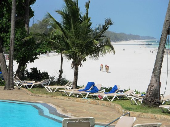Baobab Beach Resort & Spa: Long stretch of beach at low tide!