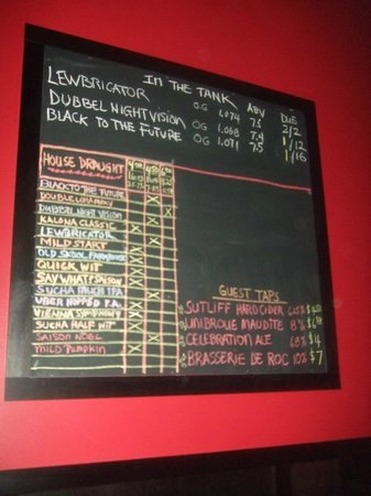 Kalona Brewing Company : board of beers (and a cider)