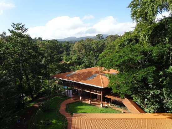 Finca Luna Nueva Lodge: View of hotel from lookout tower