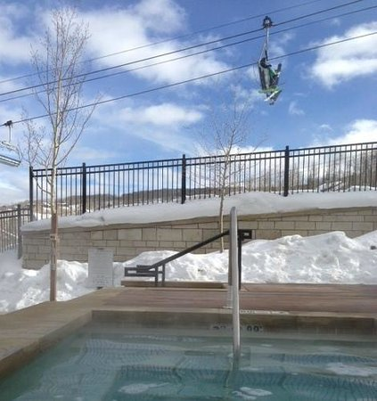 The Westin Snowmass Resort: While enjoying the hot tub.