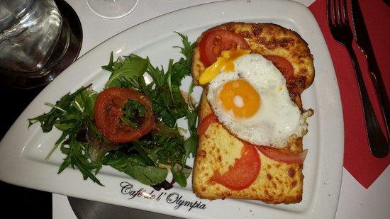 Cafe de l'Olympia: Croque monsieur