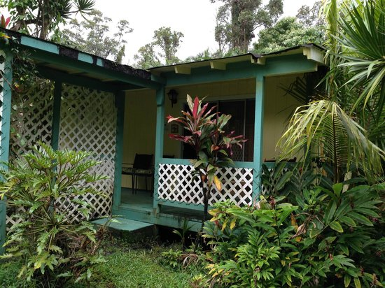 Coconut Cottage Bed & Breakfast: View of Bungalow Lanai and entrane