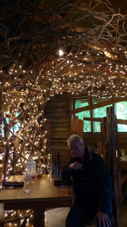 The Treehouse Restaurant at the Alnwick Garden: inside