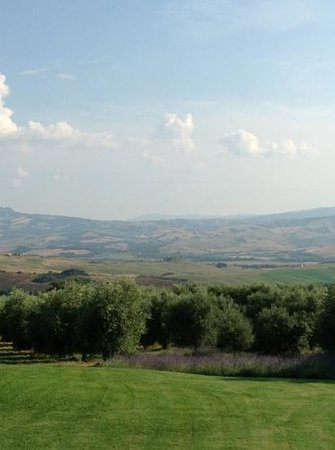 La Foce: view from the pool
