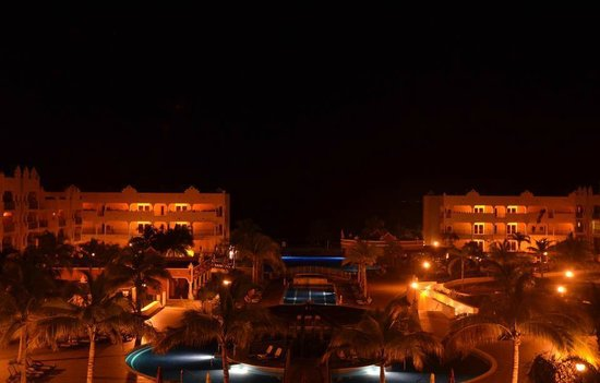 The Royal Haciendas All Suites Resort & Spa : view from our balcony about 10 PM CST