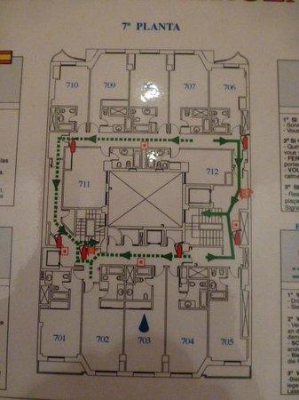 Tryp Madrid Centro : Plano de la planta del hotel