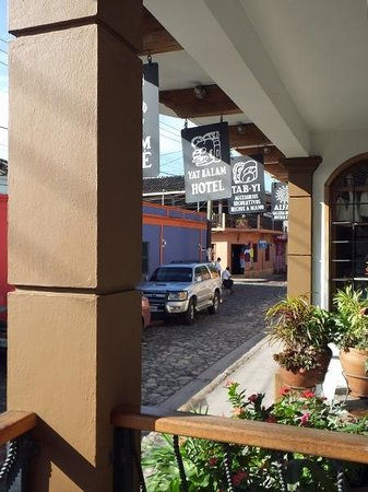 Yat B'alam Boutique Hotel : Looking out at the street from the cafe at Yat B'alam