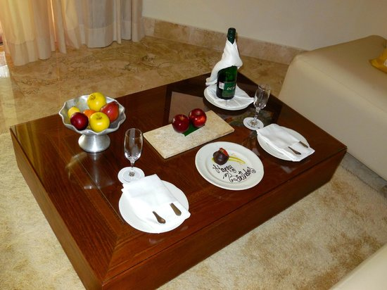 Excellence Playa Mujeres: Birthday surprise when we arrived.