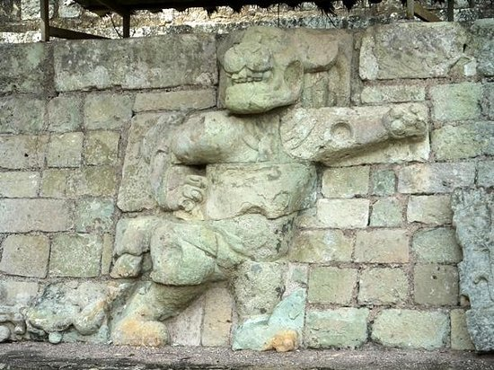 Yat B'alam Boutique Hotel: Carving at Copan Ruinas of the Jaguar