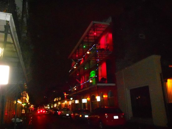Bourbon Orleans Hotel: pretty lights in French Quarter