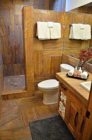 Wall Street Suites: Custom exotic stone bathrooms