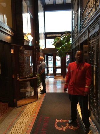 The Alise Chicago - A Staypineapple Hotel: One of the hotel staff in front of elevators.