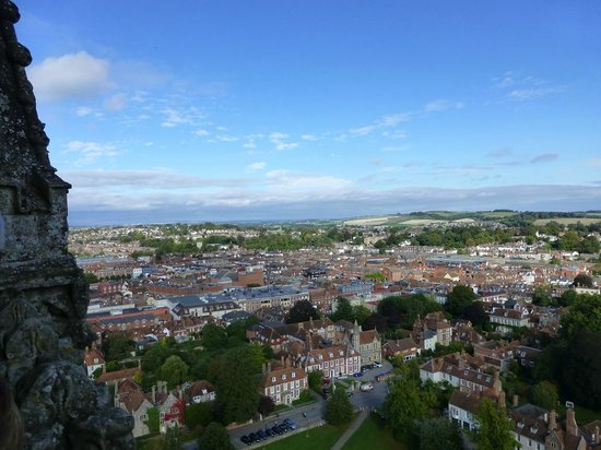 Salisbury Cathedral and Magna Carta: View from top of Cathedral