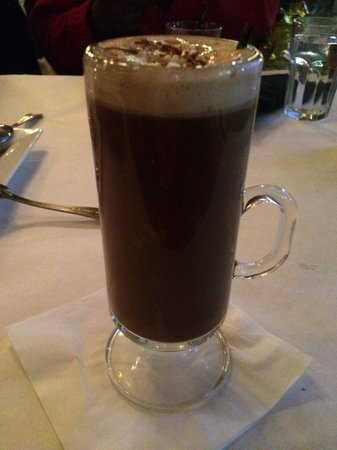 Fountain Bistro: Hazelnut Hot Chocolate-Spiked!