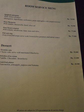 Bali Tropic Resort and Spa: Room service