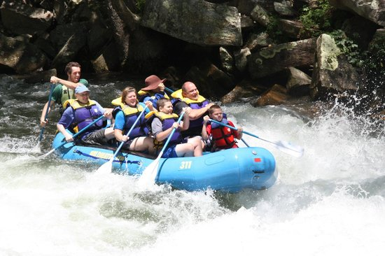 Cherokee / Great Smokies KOA: Rafting on the Natahalla River
