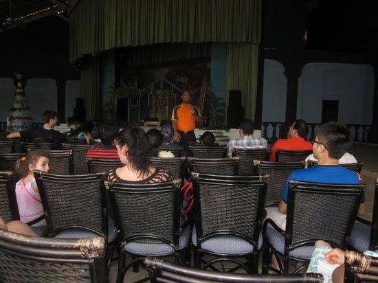 Caribe Club Princess Beach Resort & Spa: Theatre area listening to Richard from Sunwing