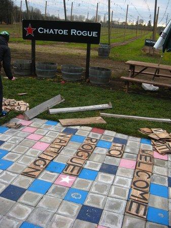 Rogue Farms Micro Hopyard: Scrabble board