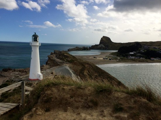 Castlepoint Lighthouse Walk: From top of the point