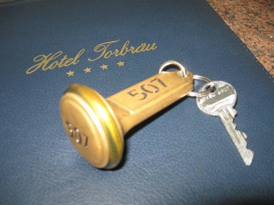 Hotel Torbraeu: room key