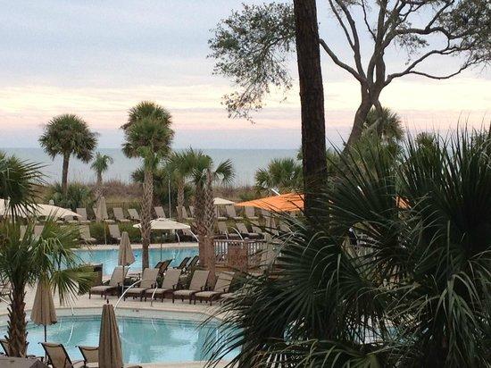 Omni Hilton Head Oceanfront Resort: Ocean view from balcony