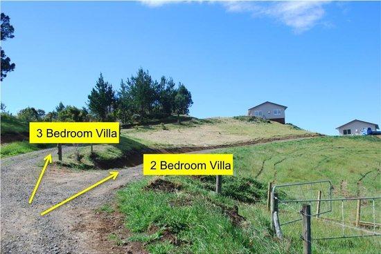 Mercury Villas: Villa locations on the property