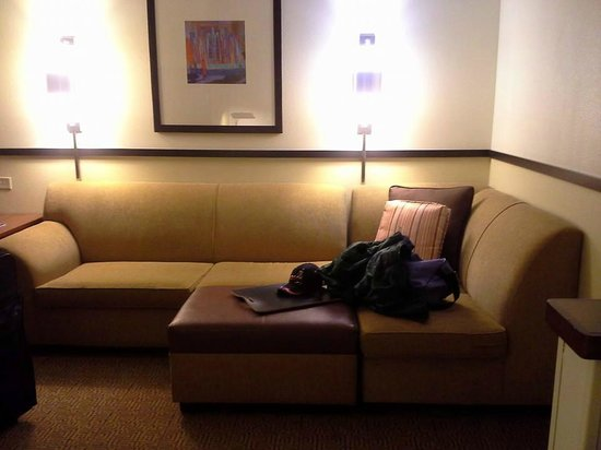 Couch and ottoman Picture of Hyatt Place Garden City Garden