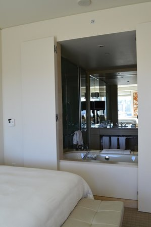 The St. Regis San Francisco: View of the bathroom (there is a door that you can close for privacy)
