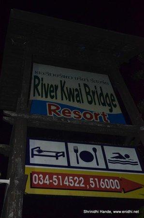 River Kwai Bridge Resort : Display board