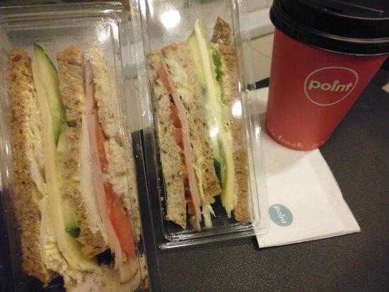 Radisson Blu Hotel, Tromso : Sandwiches prepared by the hotel