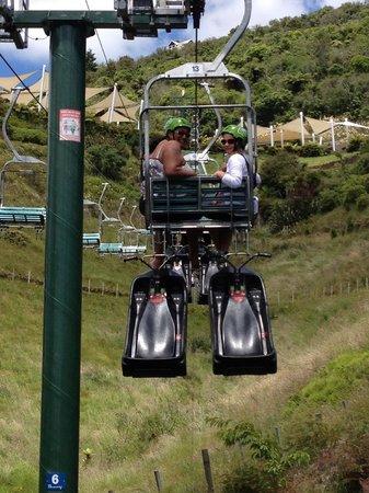 Skyline Rotorua: The luge chairlift