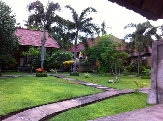 Kubuku Ecolodge and Resto: Garden with mountain view (not seen here ;)