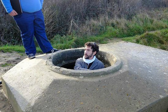 D-day Guided Tours : Mathias in a bunker