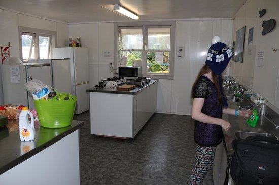 Takapuna Beach Holiday Park : Campground Kitchen