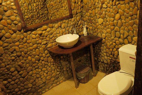 Tree Top Eco-Lodge : Restroom