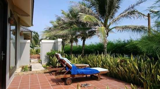 ChamPa Resort and Spa : Bungalow terrace