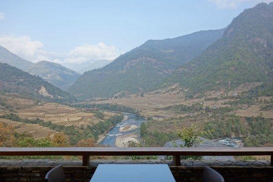 COMO Uma Punakha : valley view from room No.9