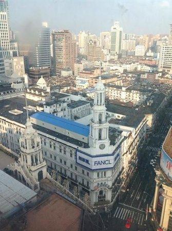 Blick aus dem 17. Stoch, unten ist die Najing Lu