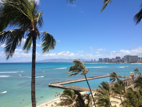 The New Otani Kaimana Beach Hotel: Amazing view from our room