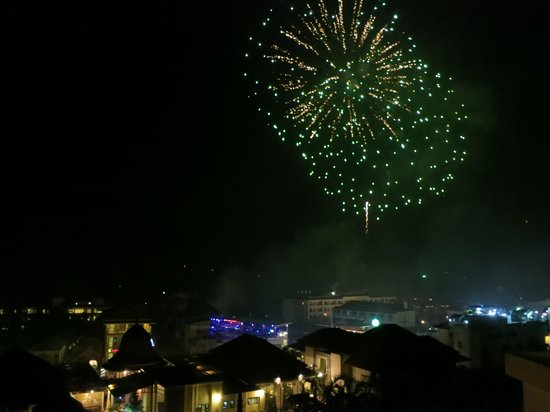 Aonang Cliff Beach Resort: Fireworks from other hotels