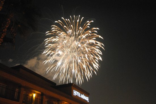 Hotel Menage: great view for fireworks