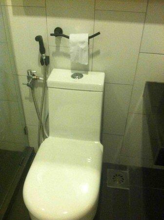 the youniQ Hotel: Must twist torso to reach toilet paper