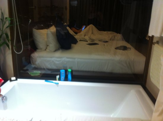 Novotel Phuket Kata Avista Resort and Spa : Sunken bath with window into room