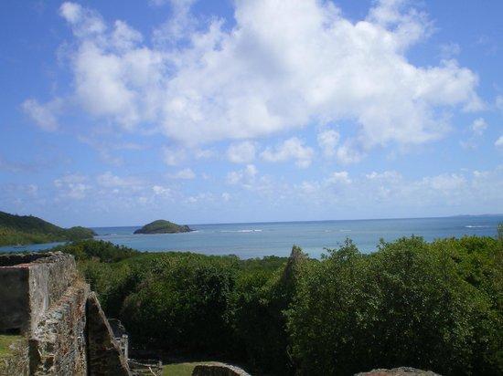 Caravelle Peninsula: vue depuis les ruines du Château Dubuc