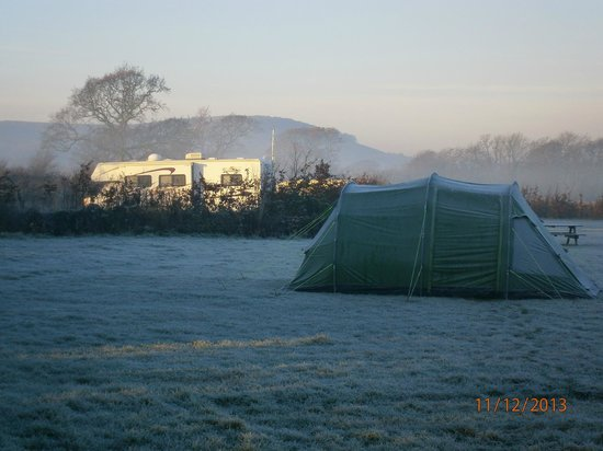 Southdown Way Caravan and Camping Park: Cold start