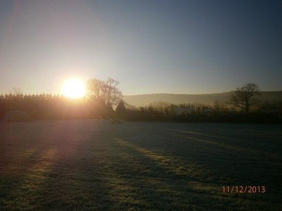 Southdown Way Caravan and Camping Park: Sunrise over the South Downs