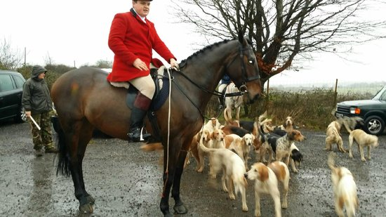 The Castell Y Bwch Inn: Master of the hunt,new years day.@The Castell-y-Bwch