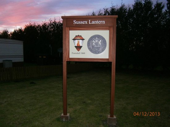Southdown Way Caravan and Camping Park: Sussex Lantern plaque