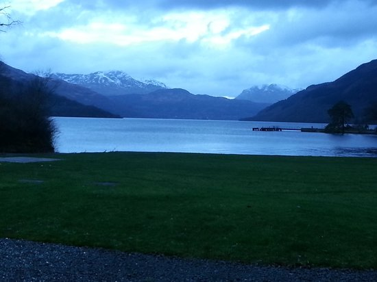 Rowardennan Hotel: the view from our room window
